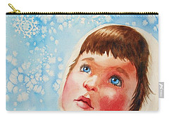 First Snowfall Carry-all Pouch by Marilyn Jacobson