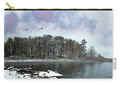 First Snowfall Carry-all Pouch by Vladimir Kholostykh