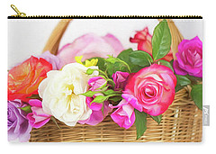 First Spring Garden Roses Carry-all Pouch