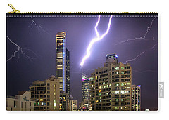 Carry-all Pouch featuring the photograph First Strike by Az Jackson