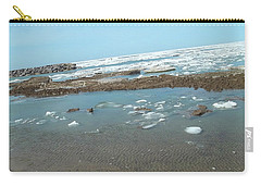 First Thaw Of Frozen Lake Erie Carry-all Pouch