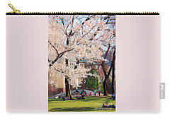 First Warm Day - New York Carry-all Pouch by Miriam Danar