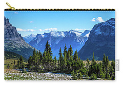 First Winter Snow In Glacier Carry-all Pouch by Yeates Photography