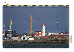 Carry-all Pouch featuring the photograph Fisgard Photobomber by Rasma Bertz