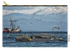 Carry-all Pouch featuring the photograph Fish Are Flying by Randy Hall