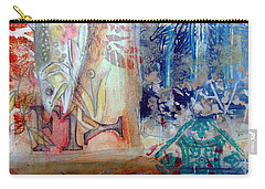 Carry-all Pouch featuring the mixed media Fish Collage #1 by Rose Legge