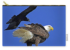 Fish Crow Dive Bombs Eagle Carry-all Pouch