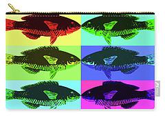 Carry-all Pouch featuring the digital art Fish Dinner Pop Art by Nancy Merkle