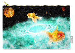 Carry-all Pouch featuring the digital art Zen Fish Dream by Olga Hamilton