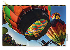 Fish Eye View Of The Balloon Races Carry-all Pouch by Janis Knight