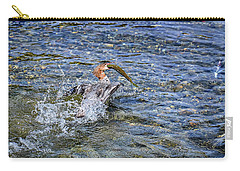 Carry-all Pouch featuring the photograph Fish Gulp by David Lawson
