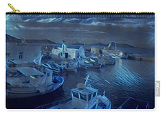 Fish Harbour Paros Island Greece Carry-all Pouch by Colette V Hera Guggenheim
