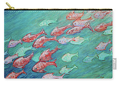 Carry-all Pouch featuring the painting Fish In Abundance by Xueling Zou