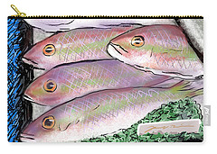 Carry-all Pouch featuring the digital art Fish Market by Jean Pacheco Ravinski