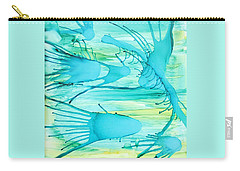 Carry-all Pouch featuring the painting Fish N Shrimp by Deborah Boyd