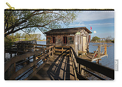 Carry-all Pouch featuring the photograph Fish Shack by Fran Riley