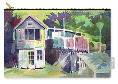 Carry-all Pouch featuring the painting Fish Shack by Kris Parins