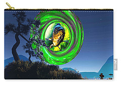 Carry-all Pouch featuring the painting Fish Too Big For Cormorant by Mojo Mendiola
