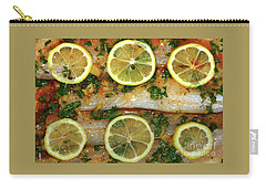 Carry-all Pouch featuring the photograph Fish With Lemon And Coriander By Kaye Menner by Kaye Menner
