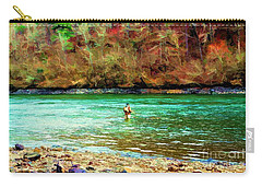 Carry-all Pouch featuring the photograph Fisherman Hot Springs Ar In Oil by Diana Mary Sharpton
