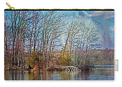 Fisherman On Burke Lake Carry-all Pouch