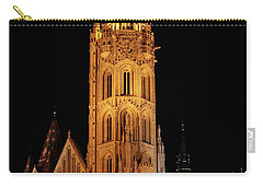 Carry-all Pouch featuring the digital art  Fishermans Bastion - Budapest by Pat Speirs