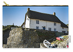 Carry-all Pouch featuring the photograph Fishermans Cottage by Brian Roscorla
