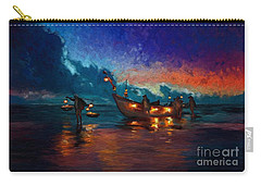 Fishermen Night Fishing Carry-all Pouch