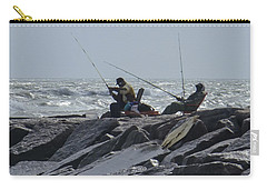 Fishermen With Seagull Carry-all Pouch