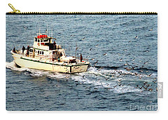 Carry-all Pouch featuring the photograph Fishing And Seagulls by Randall Weidner