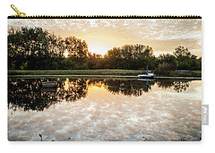 Carry-all Pouch featuring the photograph Fishing At Dawn by Wade Courtney