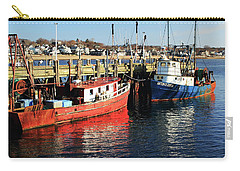 Fishing Boats At Provincetown Wharf Carry-all Pouch by Roupen  Baker