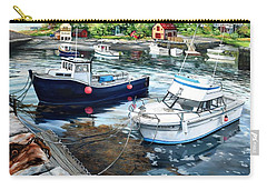 Fishing Boats In Lanes Cove Gloucester Ma Carry-all Pouch