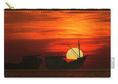 Fishing Boats In Sea Carry-all Pouch