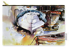 Fishing Boats Carry-all Pouch by Rae Andrews