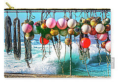 Carry-all Pouch featuring the photograph Fishing Buoys by Terri Waters