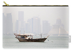 Fishing Dhow And Misty Towers Carry-all Pouch