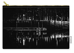 Carry-all Pouch featuring the photograph Fishing Dock At Night 2017  by Thomas Young