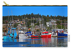 Fishing Fleet At Newport Harbor Carry-all Pouch by Marty Fancy