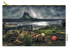 Carry-all Pouch featuring the photograph Fishing Gear At Lindisfarne. by Brian Tarr