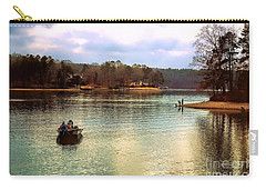 Carry-all Pouch featuring the photograph Fishing Hot Springs Ar by Diana Mary Sharpton