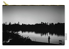 Fishing In Black And White Carry-all Pouch