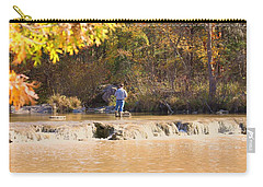 Carry-all Pouch featuring the photograph Fishing In Fall by Sheila Brown