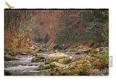 Fishing In Mountain Stream Carry-all Pouch
