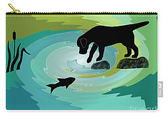 Fishing Labrador Dog Carry-all Pouch