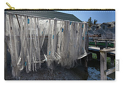 Carry-all Pouch featuring the photograph Fishing Net by Fran Riley