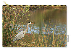 Carry-all Pouch featuring the photograph Fishing Oceano Lagoon by Art Block Collections