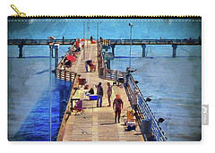 Fishing Off Galvaston Pier Carry-all Pouch