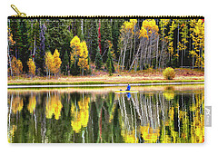 Fishing On Dream Lake Colorado Carry-all Pouch