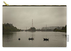 Fishing On Foggy Columbia River Carry-all Pouch